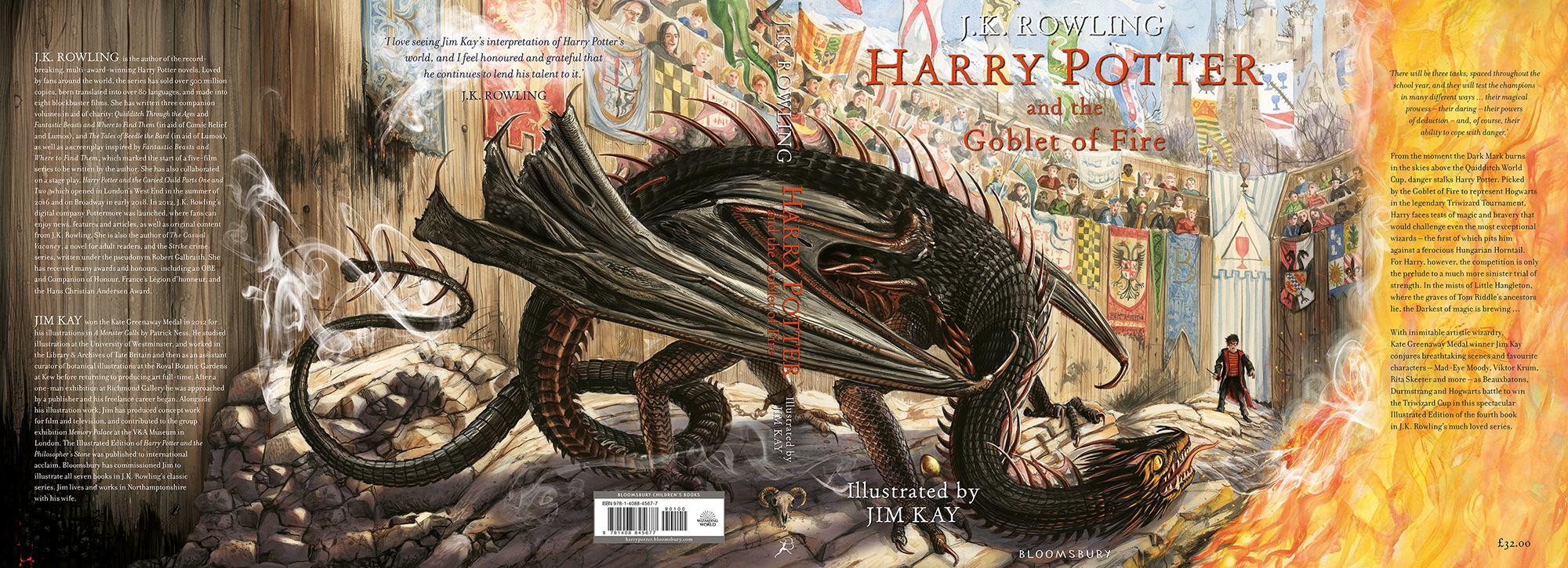 Portada de la edición ilustrada de Harry Potter y el cáliz de fuego