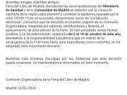 La Feria del Libro de Madrid pospone su 79ª edición a octubre por el coronavirus