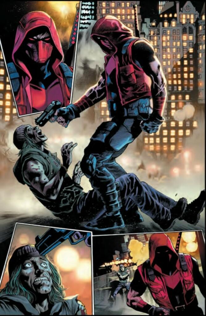 Varias imágenes en color del cómic 'Batman: Urban Legends' que muestra al personaje Jason Todd