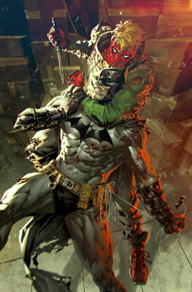 Imagen del cómic 'Batman: Urban Legends' que muestra a Batman luchando