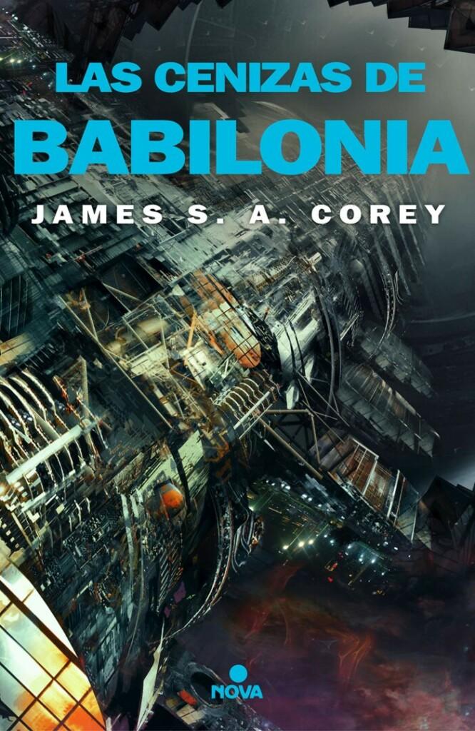Portada de 'Las cenizas de Babilonia' que muestra unas naves espaciales