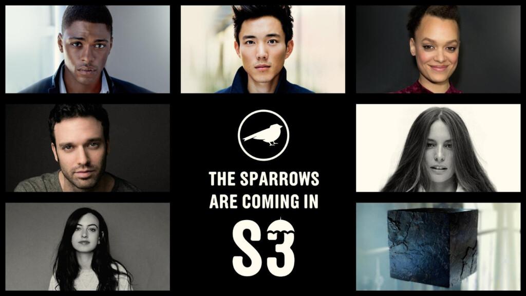Fotos en recuadros de los actores incorporados a la tercera temporada de The Umbrella Academy