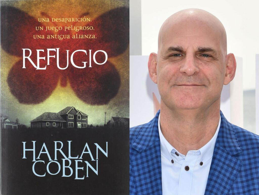 Portada de la novela 'Refugio' y su autor Harlan Coben