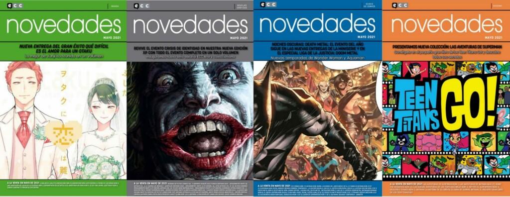 Portadas de la revista online de las novedades de ECC Ediciones