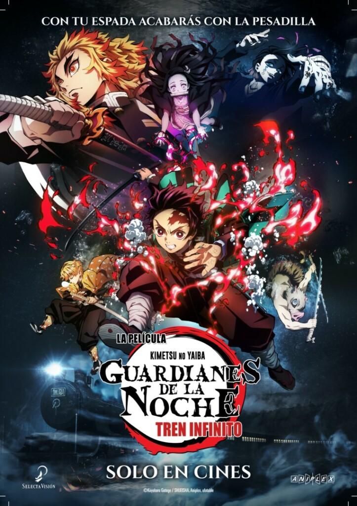 Cartel oficial en español de la película Guardianes de la Noche: Tren Infinito