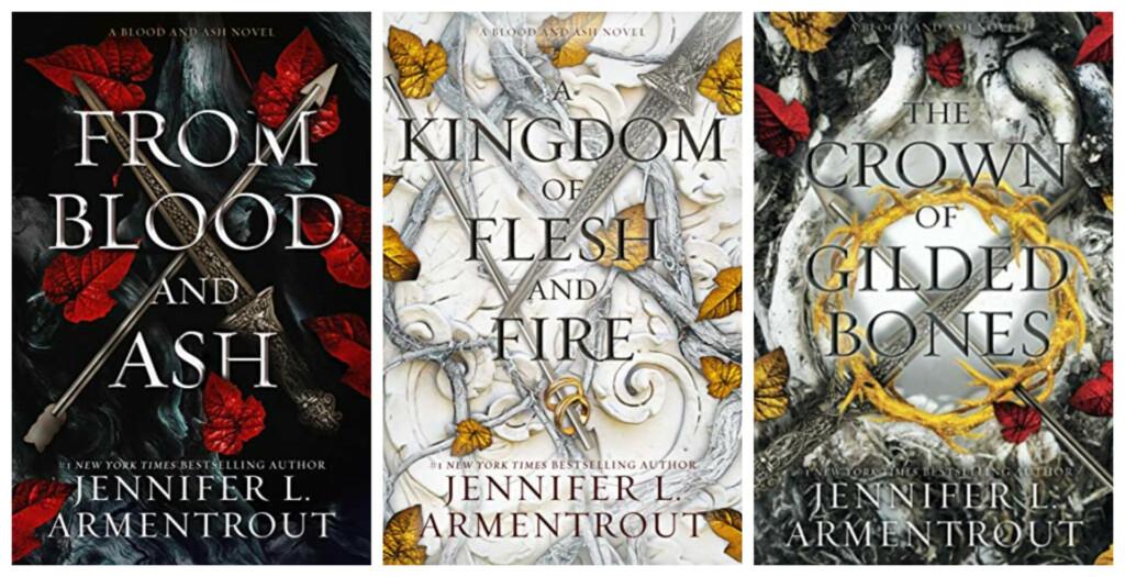 Portadas de los 3 primeros libros de la saga 'Blood and Ash'