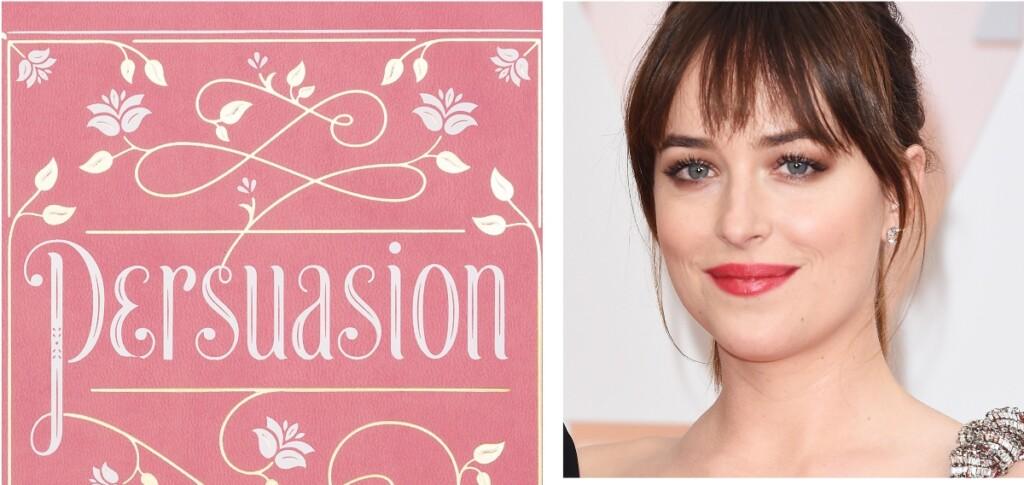 Novela persuasión y actriz Dakota Johnson