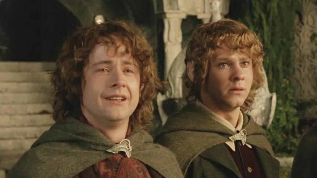 Billy Boyd como Pippin y Dominic Monaghan como Merry en 'El retorno del rey'