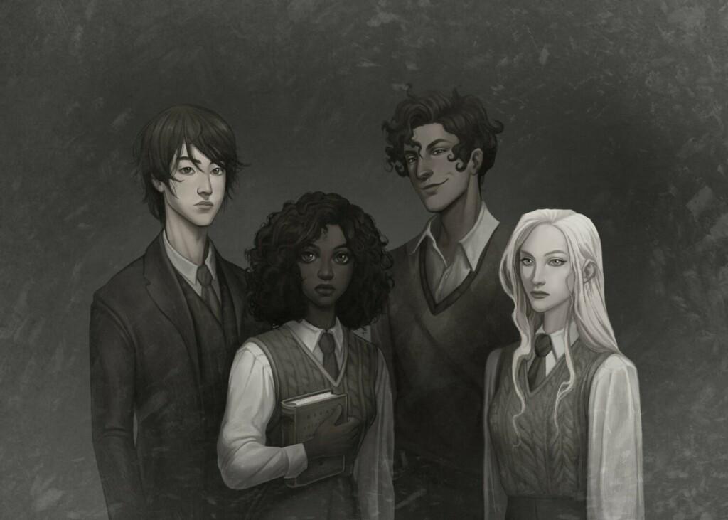Ilustración de los personajes de la novela 'Babel'