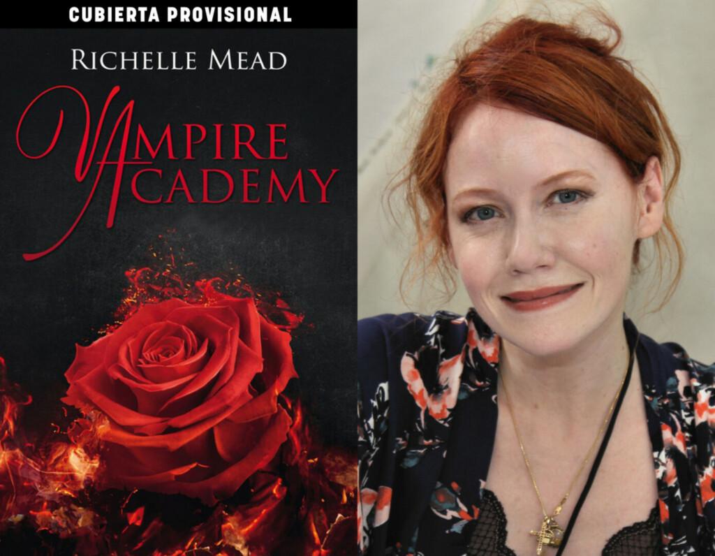 Portada provisional de la edición en español de 'Vampire Academy' y su acurora, Richelle Mead