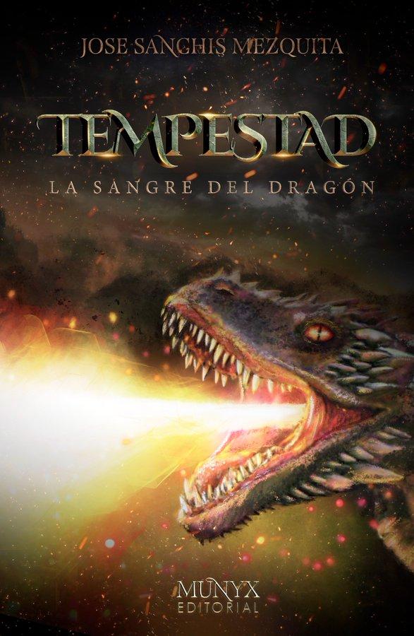 Cubierta de 'Tempestad', en la que se ve a un dragón arrojando fuego
