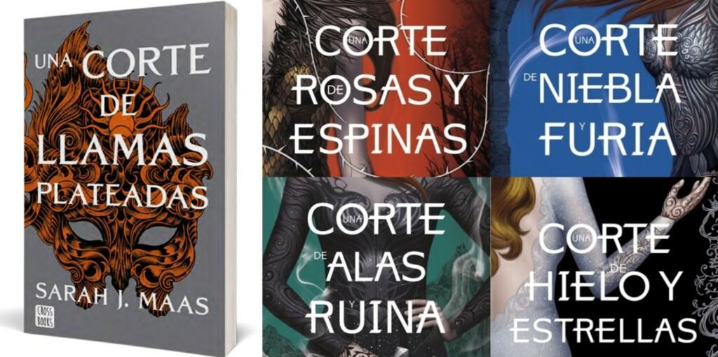 Portadas de la saga Una corte de rosas y espinas de Sarah J Maas en español