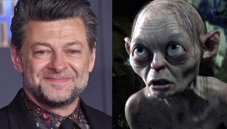 Imagen del actor Andy Serkis y de la criatura Gollum de 'El señor de los anillos'
