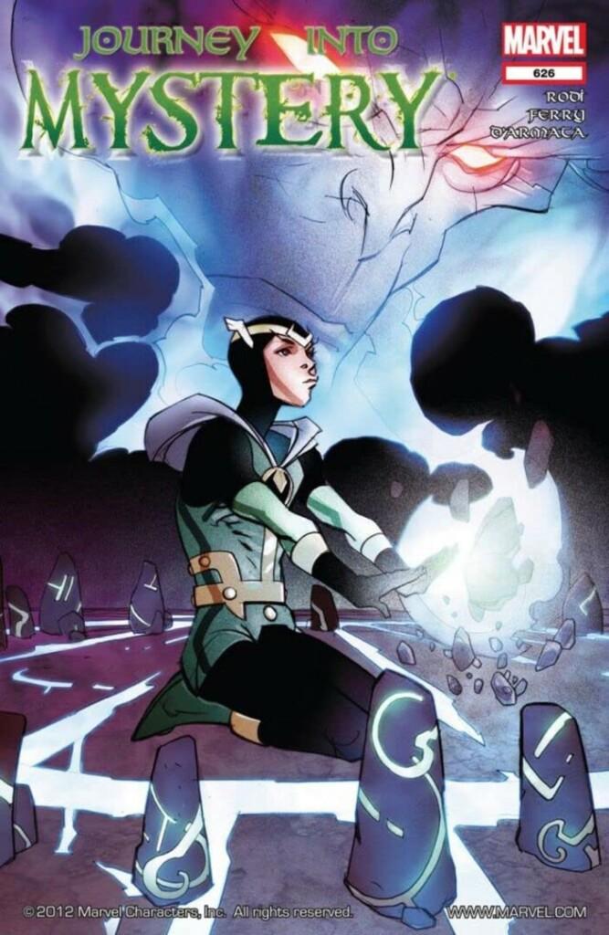 Portada del cómic Journey Into Mistery con Kid Loki