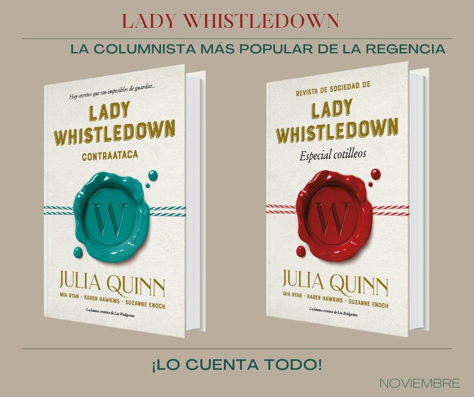 Portadas de los libros de la bilogía 'Lady Whistledown'