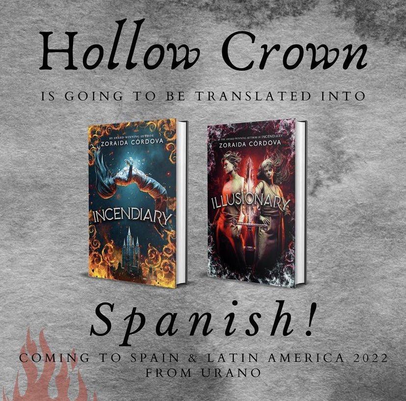 Anuncio de la publicación de la duología Hollow Crown