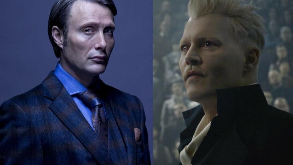 Mads Mikkelsen (izquierda) reemplazará a Johnny Depp (derecha) como Gellert Grindelwald